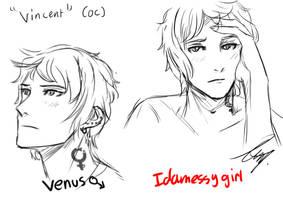 Vincent 'Venus' (OC) by Idamessygirl