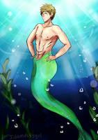 Makoto Tachibana (Merman AU) by Idamessygirl