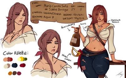 Maria Domingo - Character Reference Sheet