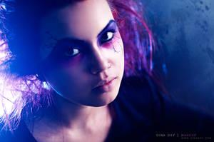 Purple Tree Feeds on Thunder by DinaDayMakeup