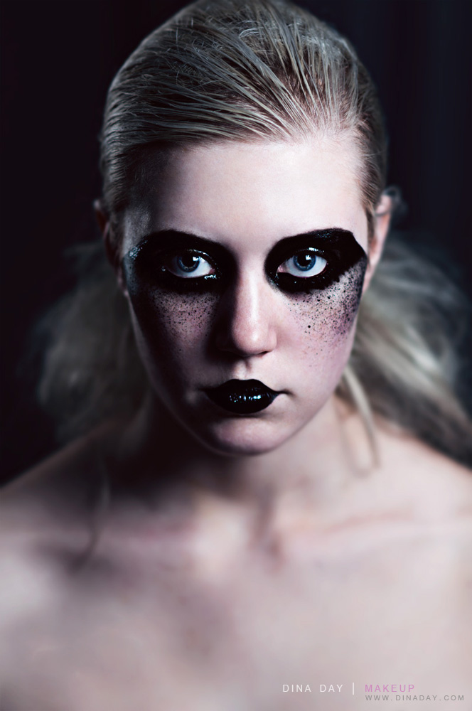 Black to Black by DinaDayMakeup