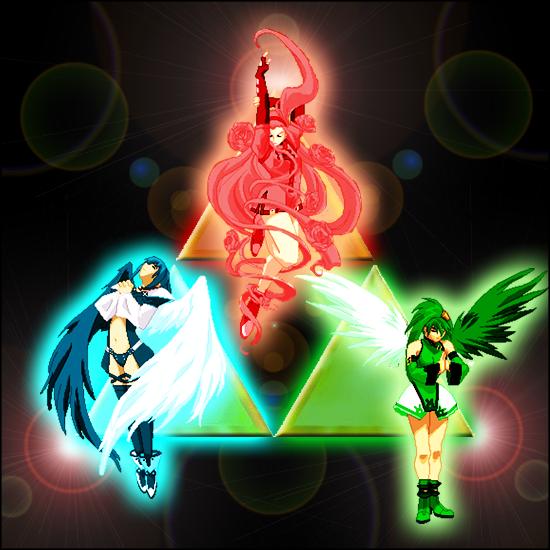 Coleccion de imagenes de Zelda. Din__Nayru_and_Farore_by_Linkain