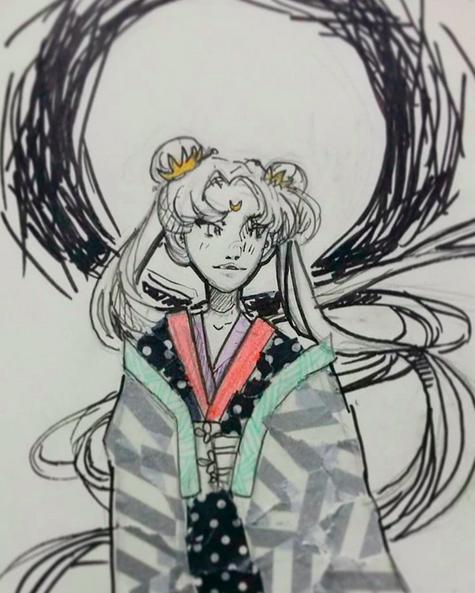 Sailor Moon Inktober by Aurora-Sakura