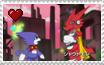 Stamps: Shoutmon x Gumdramon by Shichiro-chan