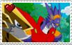 Stamps: OmegaShoutmon x Arresterdramon by Shichiro-chan