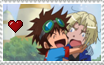 Stamps: Kiriha x Taiki 4 by Shichiro-chan