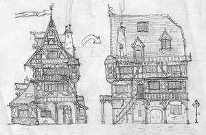 medieval house concept by lordoffog