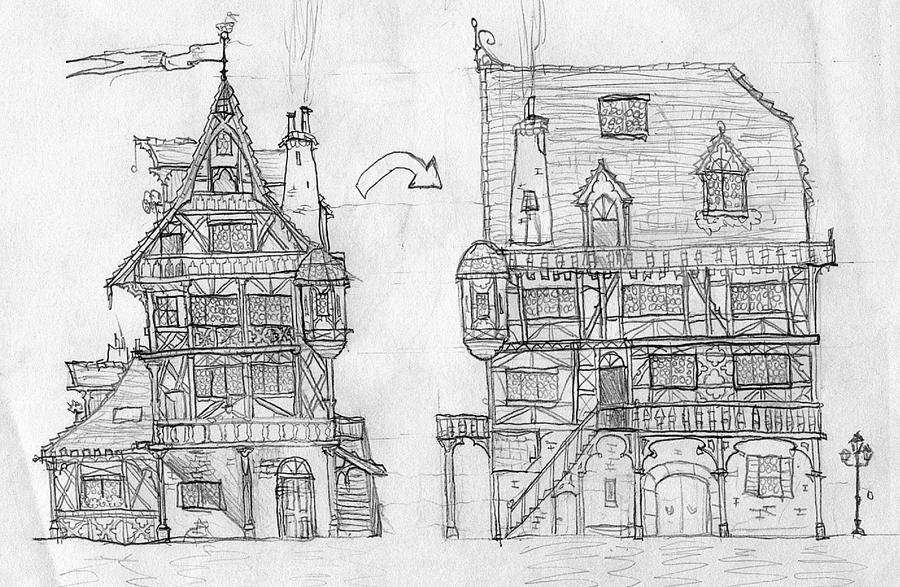 Medieval House Concept By Lordoffog On Deviantart