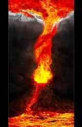 When a tornado meets a volcano by lVlorf3us