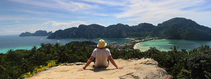 Me at Phi Phi Viewpoint by lVlorf3us