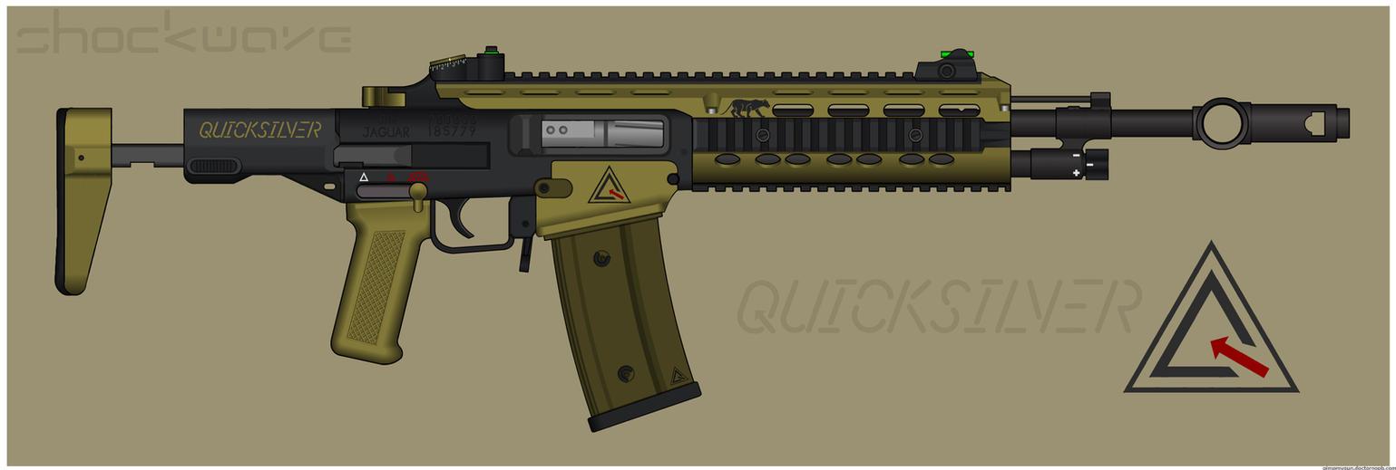 Quicksilver Industries: 'Jaguar' Assault Rifle by Shockwave9001