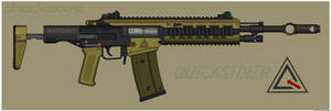 Quicksilver Industries: 'Jaguar' Assault Rifle by Shockwave9001