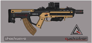 Quicksilver Industries: 'Pampas' Assault Rifle by Shockwave9001