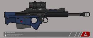 Quicksilver Industries: 'Wildebeest' Sniper Rifle by Shockwave9001