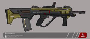 Quicksilver Industries: 'Hyrax' Assault Rifle by Shockwave9001