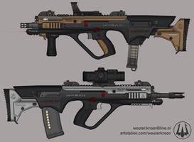 Quicksilver Industries: 'Hyrax' Assault Rifle