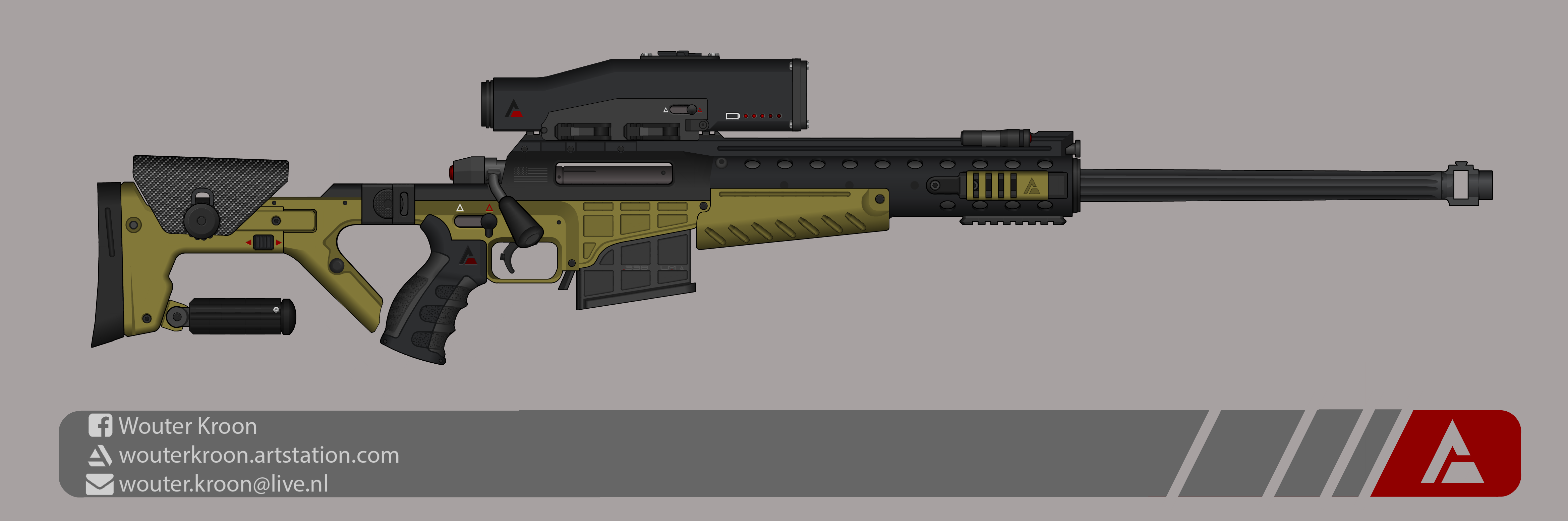 Quicksilver Industries:  'Dragonfly' Sniper Rifle by Shockwave9001
