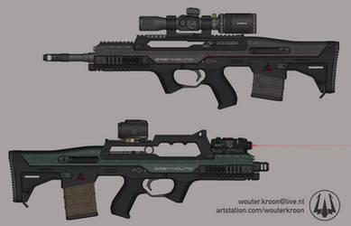 Quicksilver Industries: 'Greyhound' Battle Rifle
