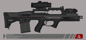 Quicksilver Industries: 'Greyhound' Battle Rifle by Shockwave9001