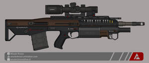 Quicksilver Industries: 'Caiman' DMR by Shockwave9001