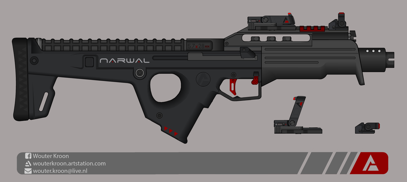 Quicksilver Industries: 'Narwal' SMG by Shockwave9001