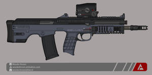 Quicksilver Industries: 'Beluga' Assault Rifle by Shockwave9001