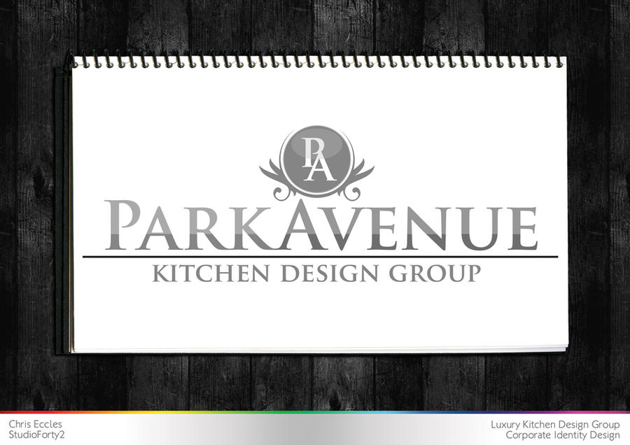 Parkavenue kitchen design logo by studioforty2 on deviantart for Kitchen designs logo