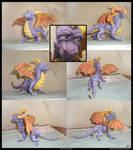Spyro sculpture colored