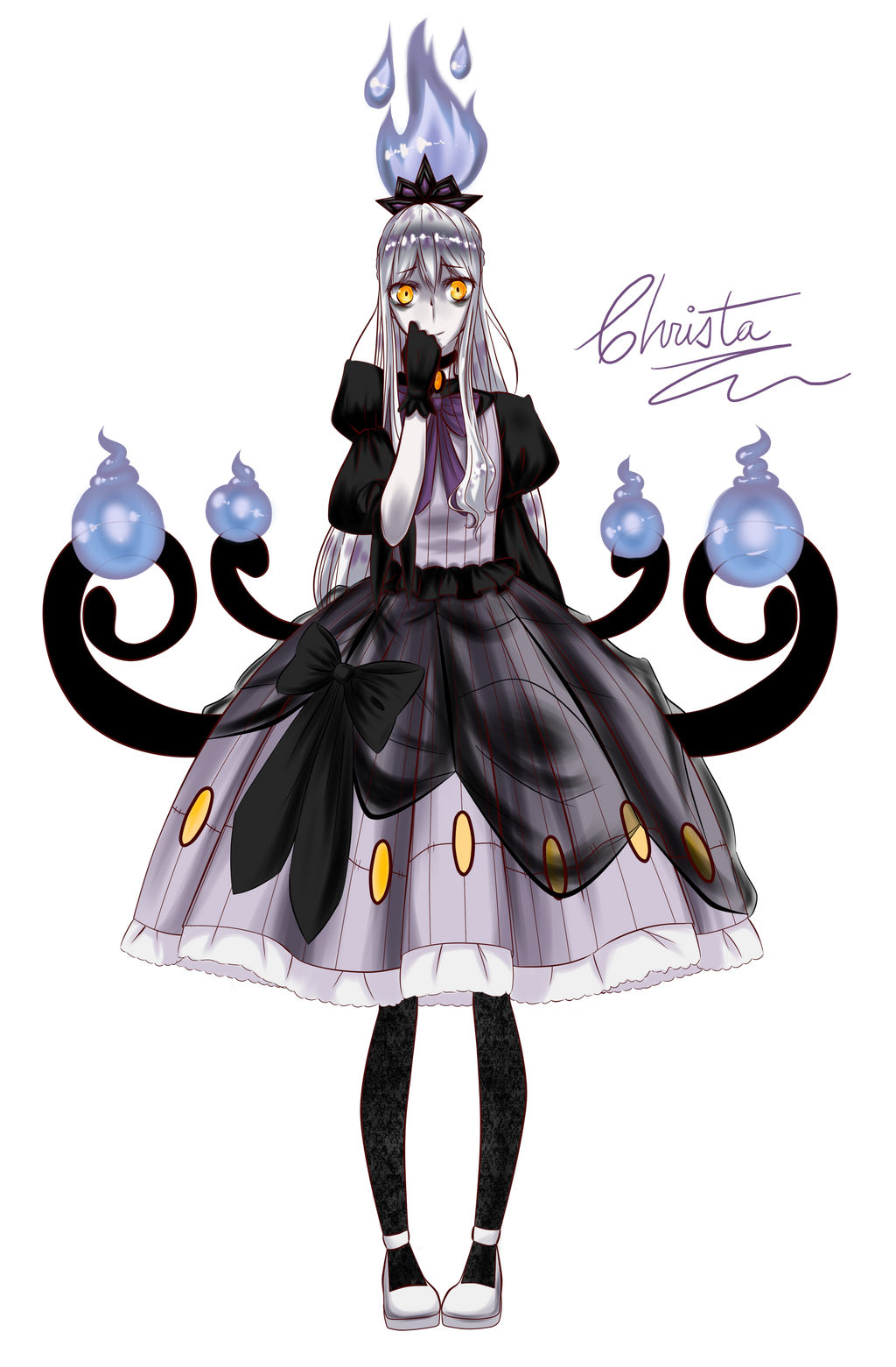2nd Chandelure Gijinka by xhikkux on DeviantArt