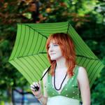 Green umbrella by MotyPest