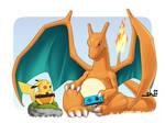 Charizard vs Pikachu