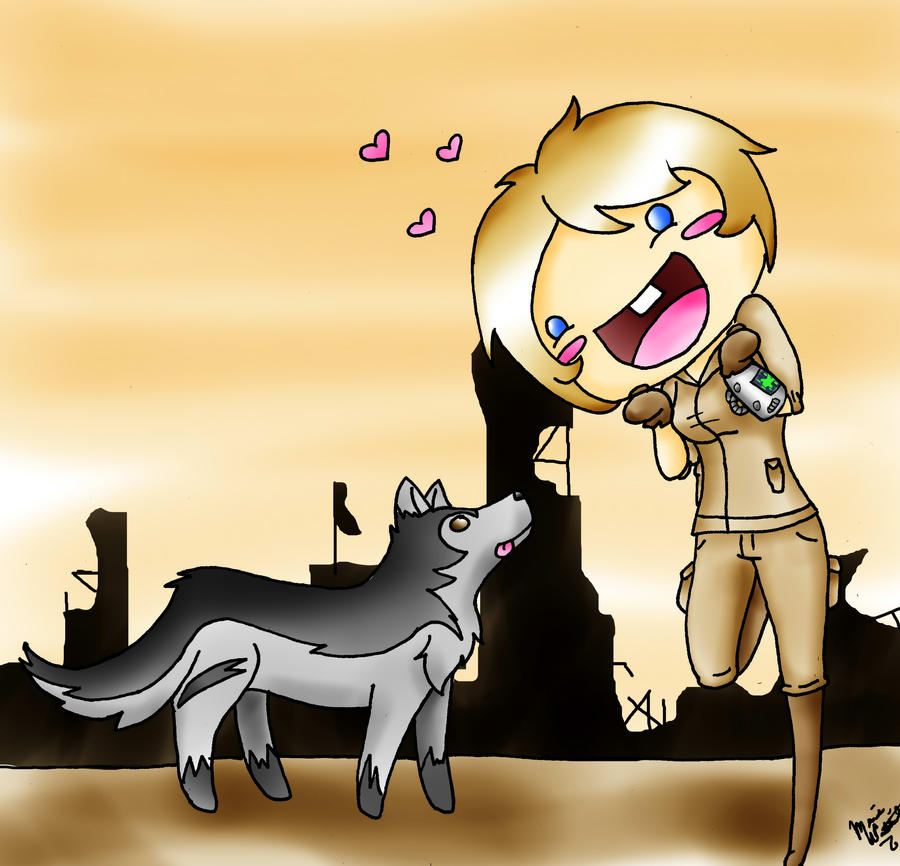 Fallout 3 Anime Characters : Fallout finding dogmeat by mirandom on deviantart