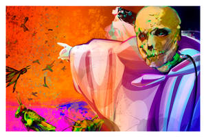 Dr. Phibes Plague of Locusts by sandpaperdaisy