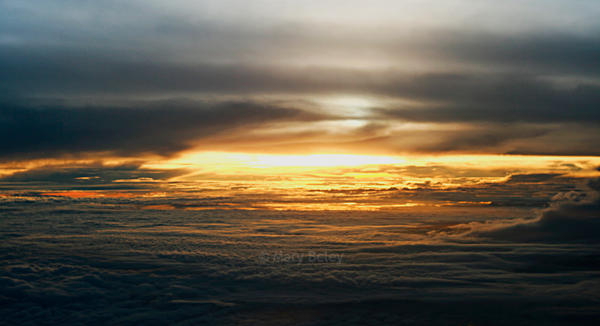 Sunset Above Sealevel by yellowfarfalla