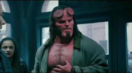 David Harbour as Hellboy by ShinRider