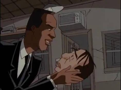 Agent J's holding Jeebs' head