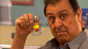 Luis with Teeny Little Super Guy