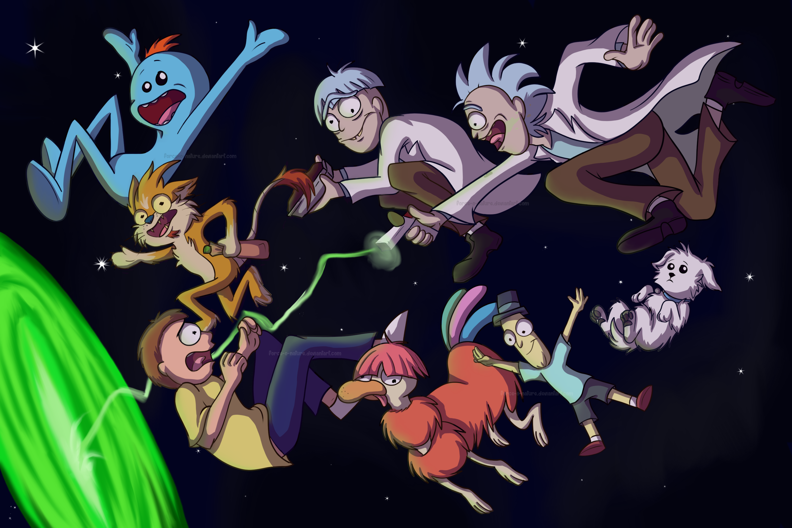 Rick And Morty Freebie Hd Wallpaper By Star Tracer On Deviantart