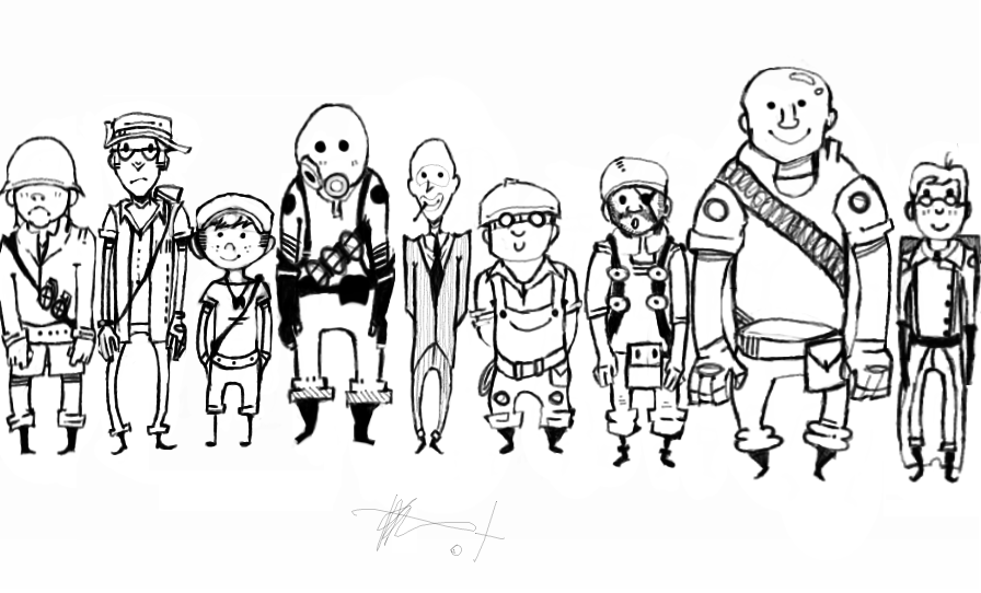 team fortress 2 coloring pages team fortress 2 by tantsnor on deviantart