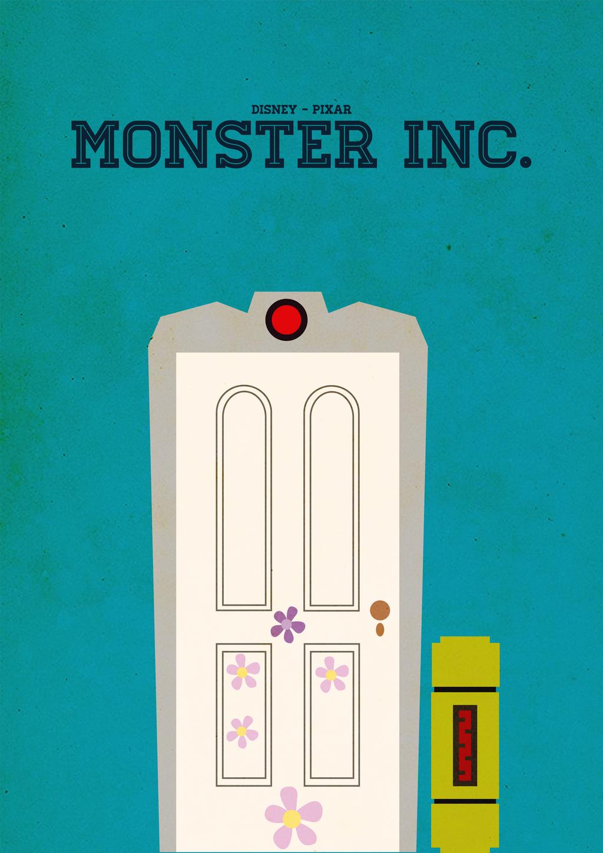 Monsters inc minimalist poster