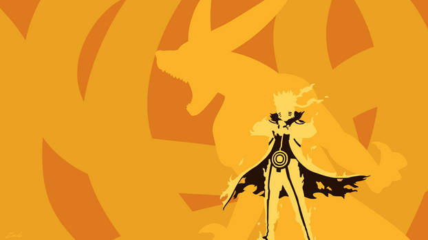 tailed beast naruto minimalist wallpaper by zacharychua d9u3mwd