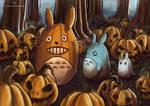 Totoros In A Pumpkin Patch