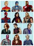 Avengers Skat Illustrations