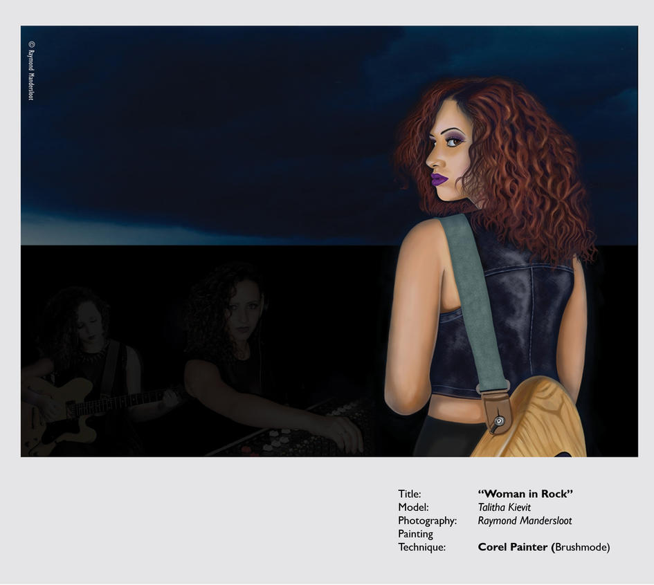 Woman in rock Talitha  layout novi 2014 by pencilworker