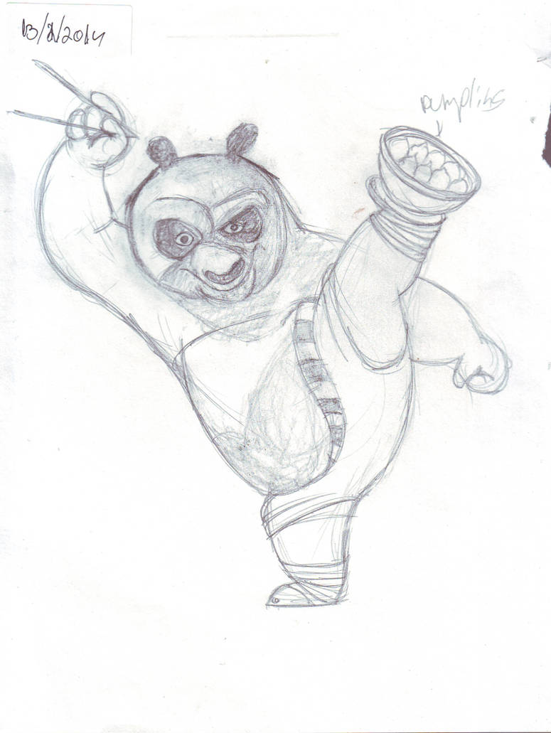Kung fu panda sketch for speed drawind by IDROIDMONKEY