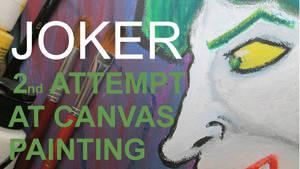 JOKER ON CANVAS SPEED PAINTING THUMBNAIL +VIDEO by IDROIDMONKEY