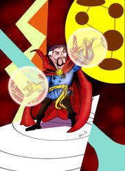 DOCTOR STRANGE SPEED DRAWING +VIDEO by IDROIDMONKEY