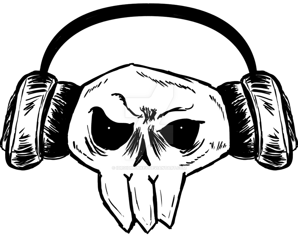 Skullhead Headphone by IDROIDMONKEY