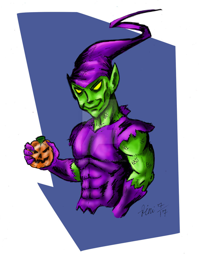 THE GREEN GOBLIN SPEED DRAWING +VIDEO by IDROIDMONKEY