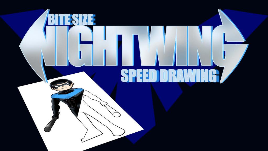 BITE SIZE NIGHTWING SPEED DRAWING THUMBNAIL+VID by IDROIDMONKEY
